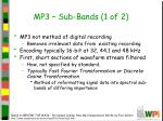 mp3 sub bands 1 of 2