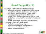 sound design 2 of 2