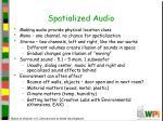 spatialized audio