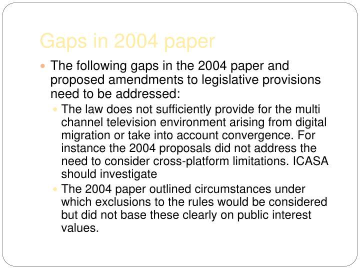 Gaps in 2004 paper