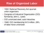 rise of organized labor