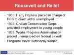 roosevelt and relief