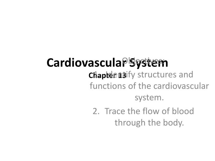 Ppt Cardiovascular System Chapter 13 Powerpoint Presentation Id