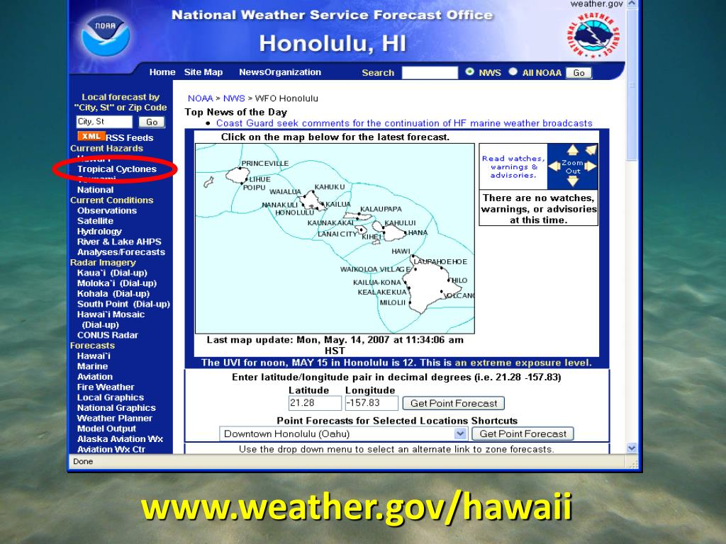 PPT - National Weather Service Weather Forecast Office
