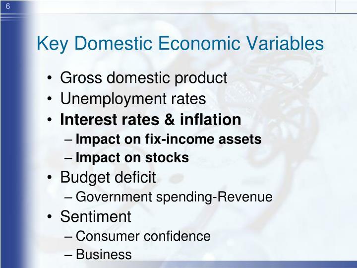 Key Domestic Economic Variables