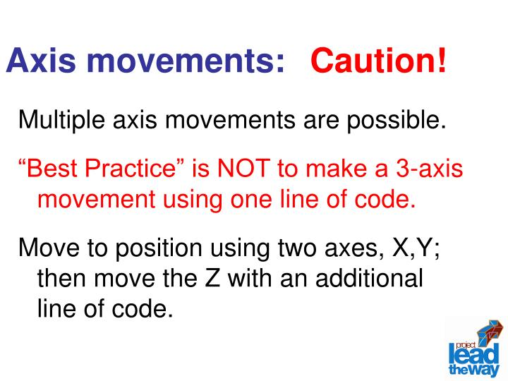 Axis movements: