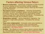 factors affecting venous return