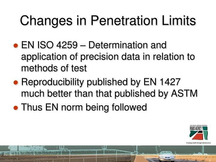 Changes in Penetration Limits