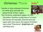 christmas made in italy
