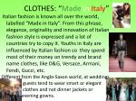 clothes made in italy