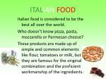 ital ian food