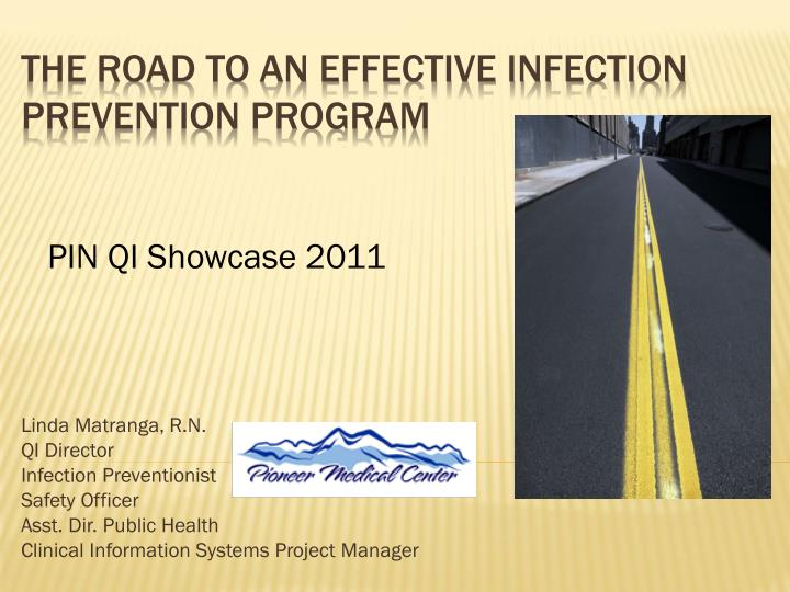 the road to an effective infection prevention program n.