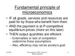 fundamental principle of microeconomics