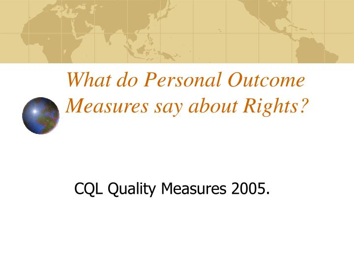 what do personal outcome measures say about rights n.