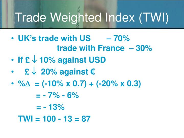 Trade Weighted