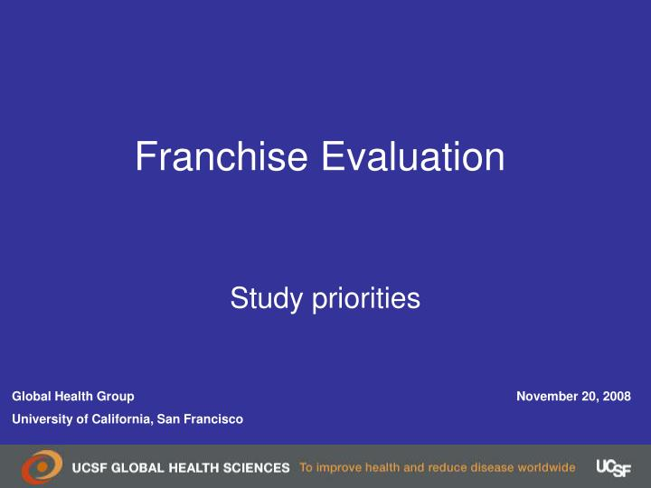 franchise evaluation n.