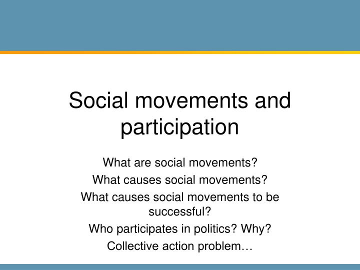 social movements and participation n.