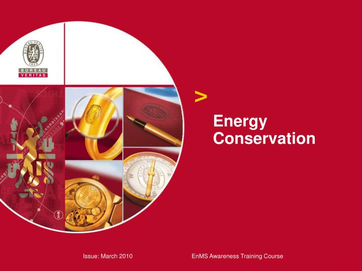 energy conservation n.