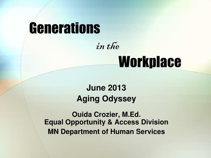 generations in the workplace n.