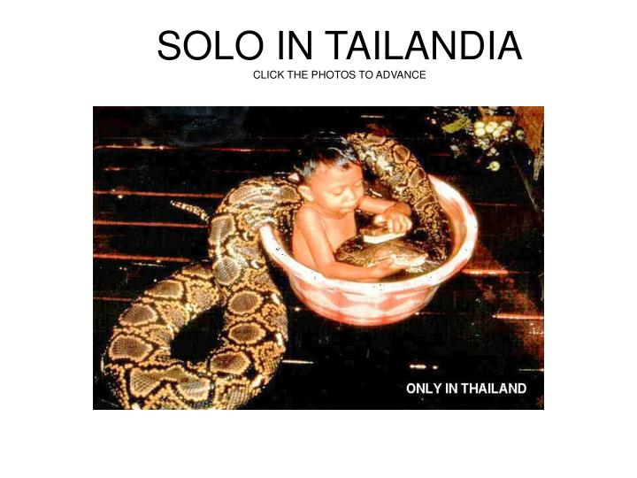 solo in tailandia click the photos to advance n.