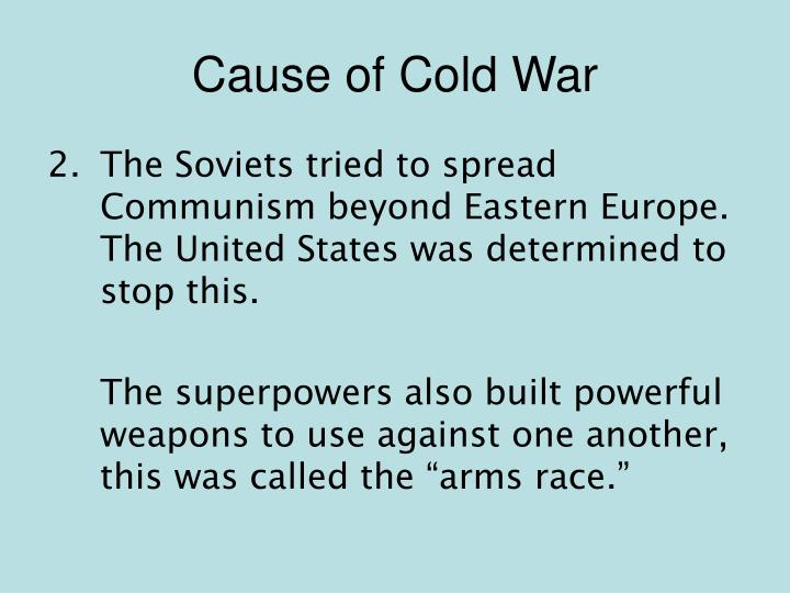 Cause of Cold War