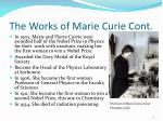 the works of marie curie cont