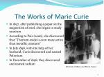 the works of marie curie