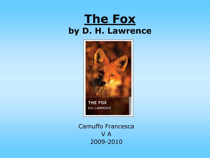the fox by d h lawrence n.