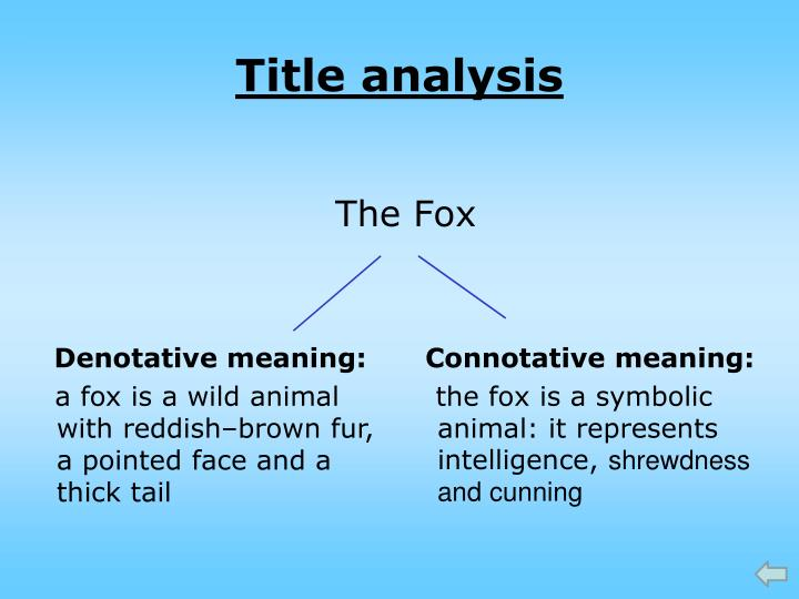 the fox dh lawrence
