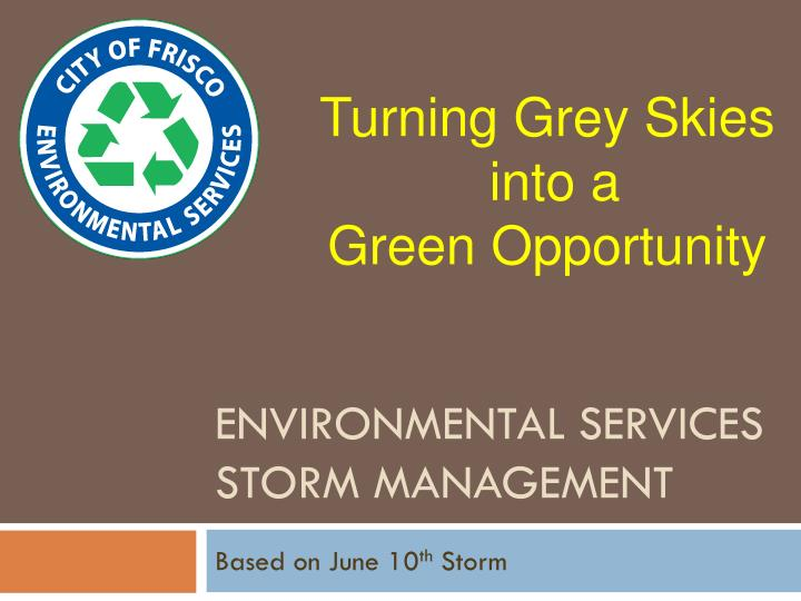 environmental services storm management n.