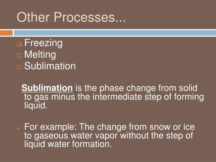 Other Processes...
