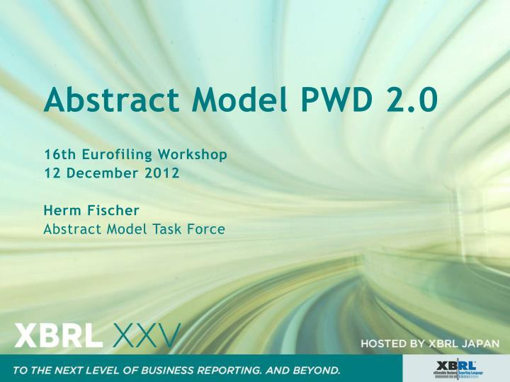 abstract model pwd 2 0 n.