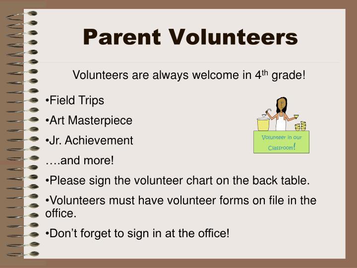 Volunteer in our Classroom