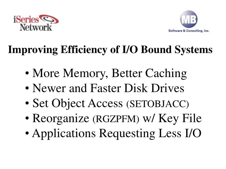 improving efficiency of i o bound systems n.