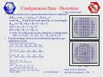 configuration data distortion