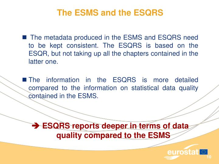 The ESMS and the ESQRS