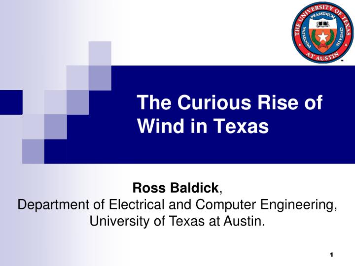 the curious rise of wind in texas n.