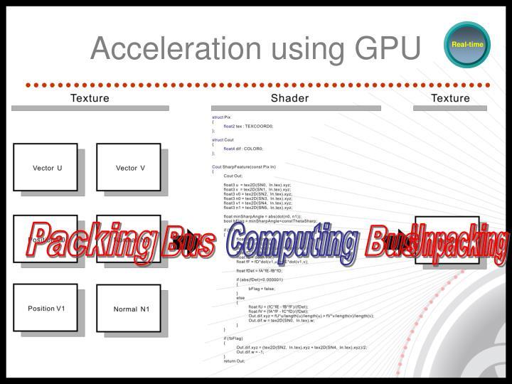 Acceleration using GPU
