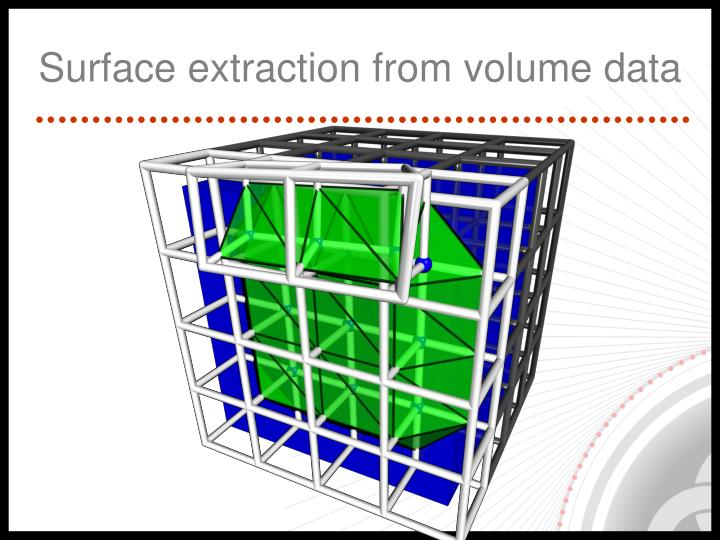 Surface extraction from volume data
