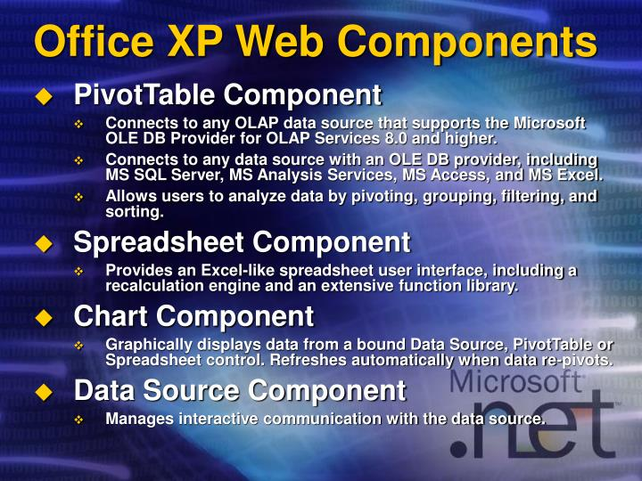 Office XP Web Components