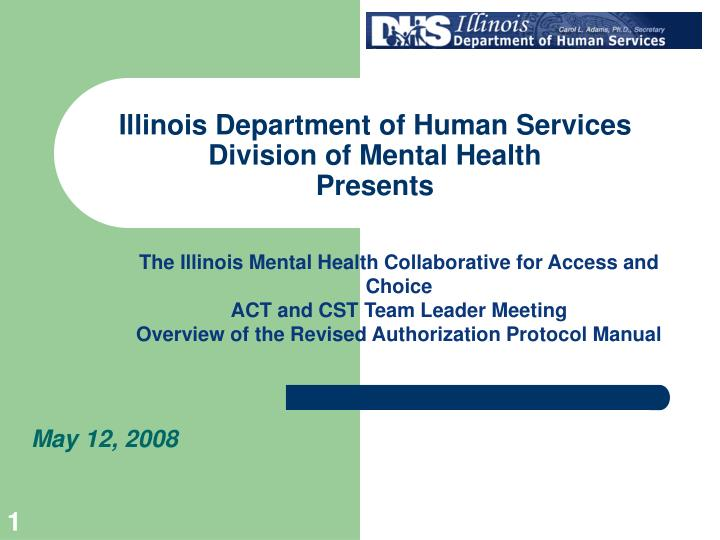 illinois department of human services division of mental health presents n.