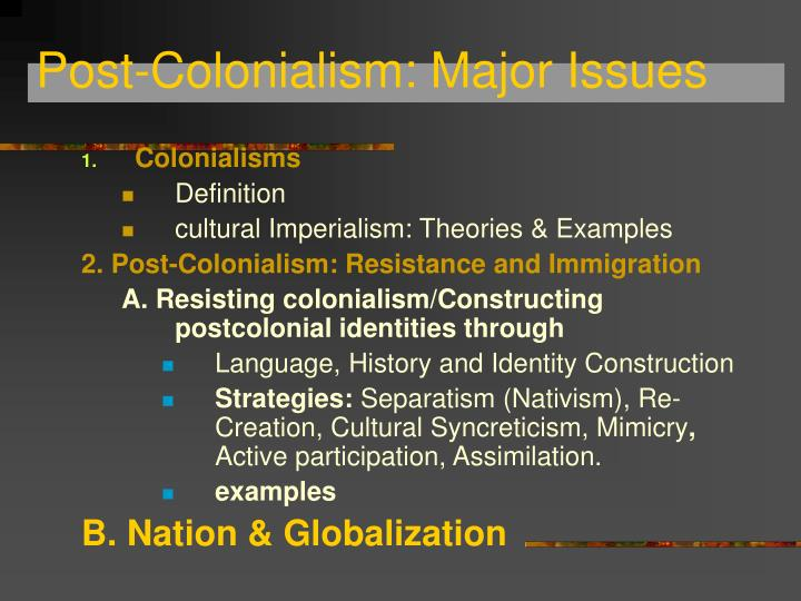 Ppt Postcolonialism 3 Powerpoint Presentation Id1743613