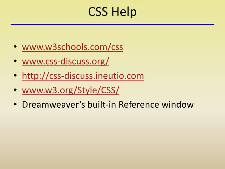 PPT - Building a Website: Cascading Style Sheets (CSS) PowerPoint
