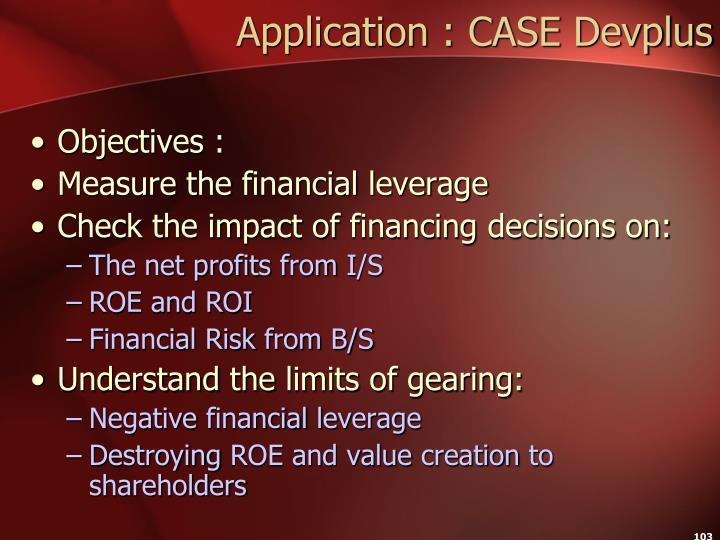 Application : CASE