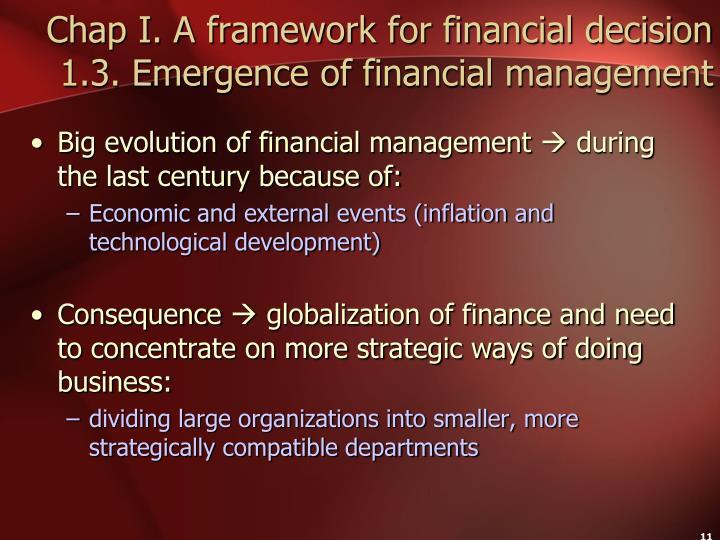 Chap I. A framework for financial decision