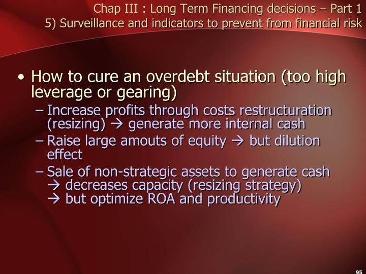 Chap III : Long Term Financing decisions – Part 1