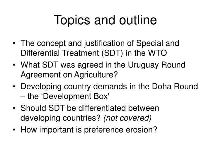 Ppt Developing Countries And The Doha Round Agricultural