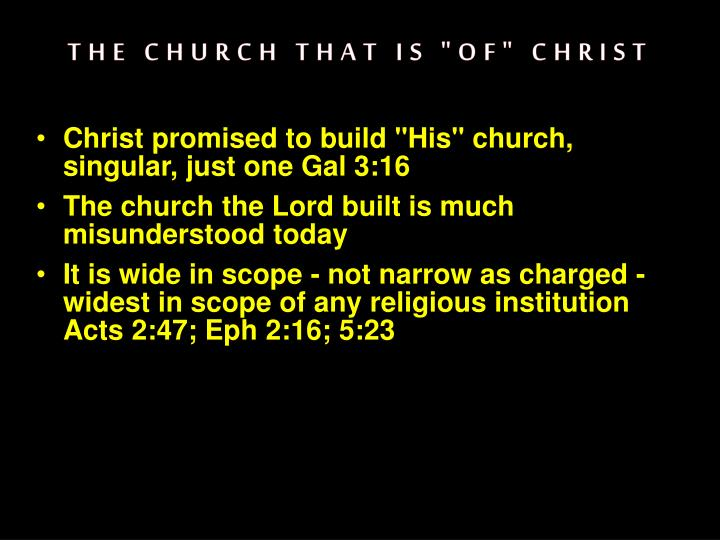 the church that is of christ n.