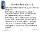 network summary 2