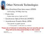 other network technologies